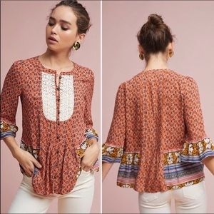 Anthropologie Maeve | Hiver Floral Blouse